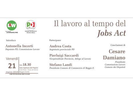 In agenda: oggi ore 18.30 Cesare Damiano a Reggio Emilia