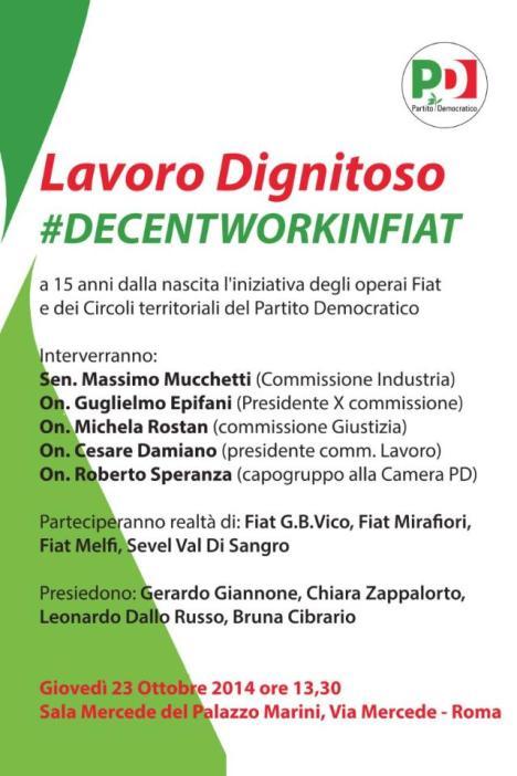 manifesto del 23 ottobre decentworkinfiat